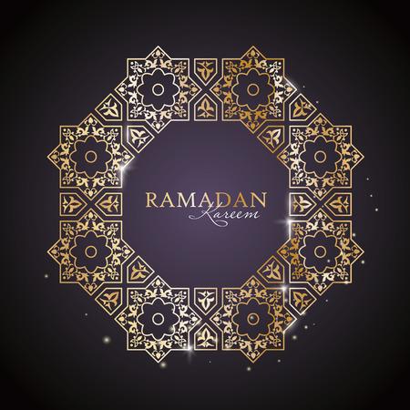 personal ornaments: Ramadan Kareem greeting template with classic arabic ornament Illustration