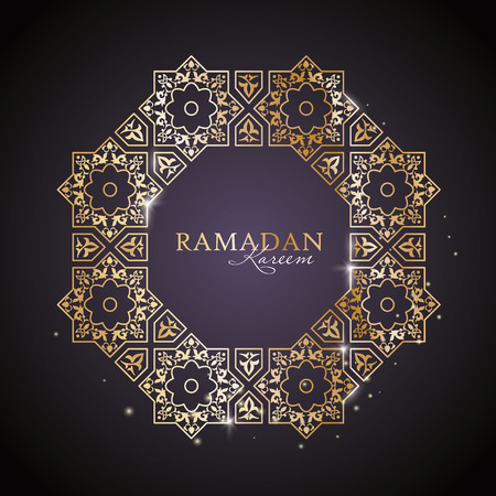 Ramadan Kareem greeting template with classic arabic ornament Illustration