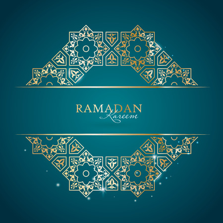 Ramadan Kareem greeting template with classic arabic ornament, vector illustration