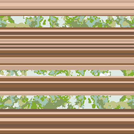 Seamless horizontal lines pattern. Vector brown nuances background
