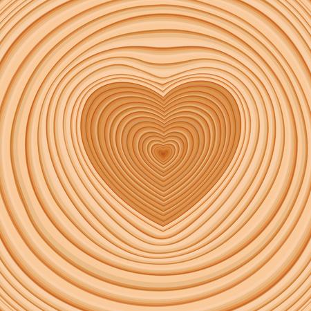 Cross-cut in the shape of a heart