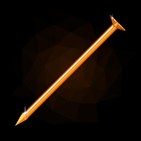 Golden nail icon.