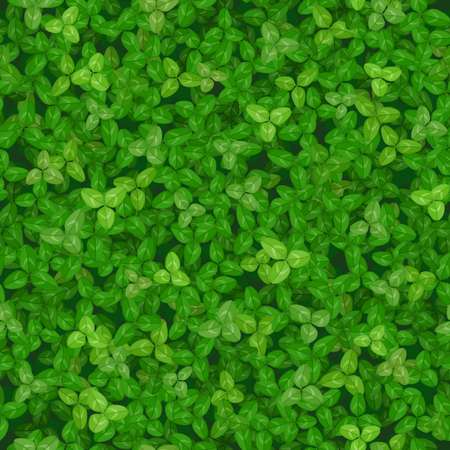 Seamless vector texture of a green lawn covered with clover Ilustrace