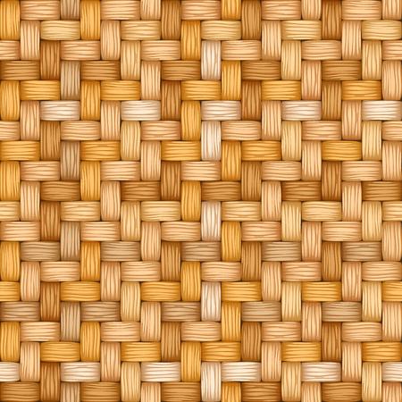 Cartoon vector seamless  texture of weaving of motley straw.