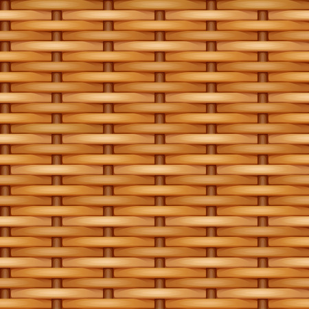 Seamless vector texture of simple weaving of smooth brown rods