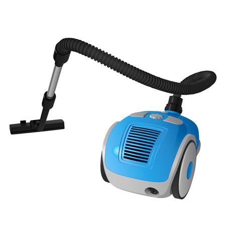 Blue vector vacuum cleaner