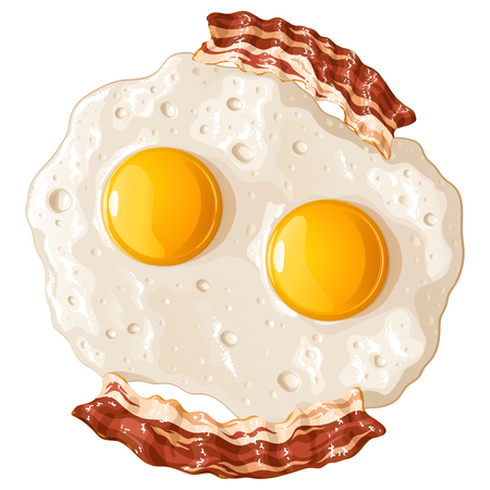 Scrambled eggs with bacon icon