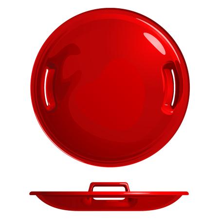 Round ice red boat Illustration