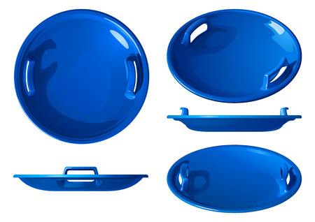 Blue rounds for skiing