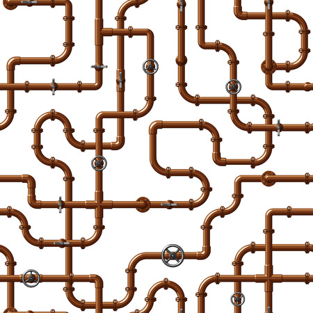 Patrón sin fisuras con tuberías de agua entrelazadas