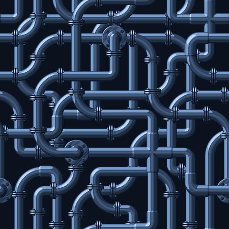 Naadloos vectorpatroon van ineengestrengelde waterleidingen