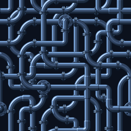 Seamless vector pattern of intertwining water pipes