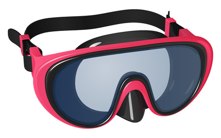 Pink mask for swimming and diving