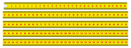 Measuring tape. Measuring the centimeter scale of graphic design. Means of graphic design of measurement of length. Isolated on white background. Vector illustration Illustration