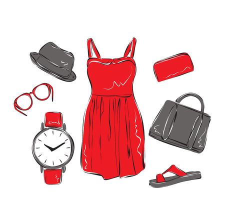 lady clock: summer clothes