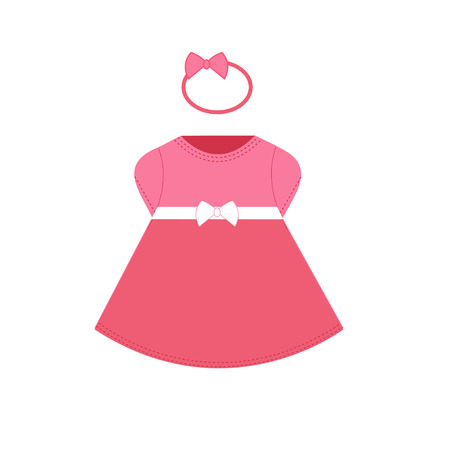 small girl: Baby flat dress. Clothes for small girl.