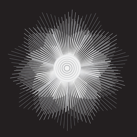 symetric: Graphic element. Vector illustration. Geometry flower of lines.