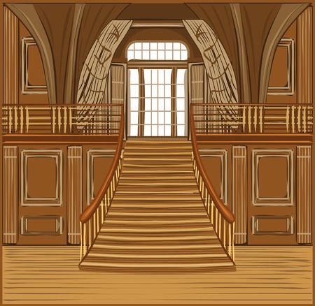 castle interior: Interior of the ballroom of magic castle