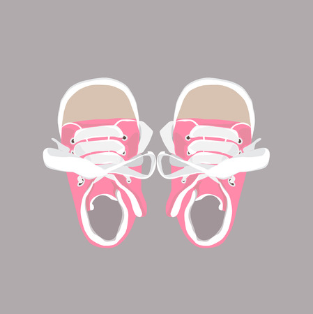 playfulness: Baby shower card with pink hand drawn booties