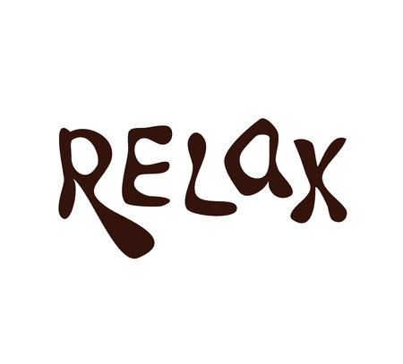 exhale: Relax. Hand drawn lettering. Calligraphy vector illustration Illustration