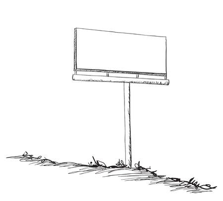 Illustrazione di un cartellone. Telaio disegnato a mano