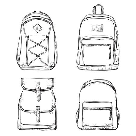 Eine Reihe von verschiedenen Arten von Rucksäcken. Tasche für die Reise