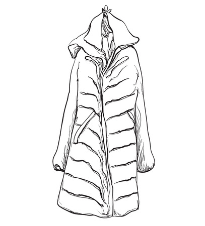Woman coat for winter. Coat on the hangers
