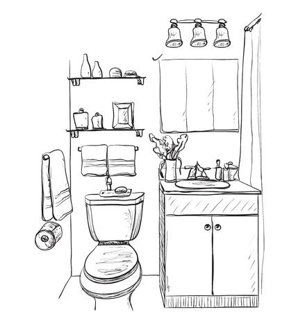 Hand drawn Bathroom