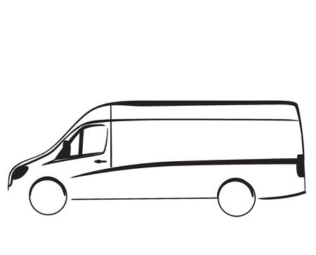 Auto reparatie of delivery service label. Vector ontwerp sjabloon.