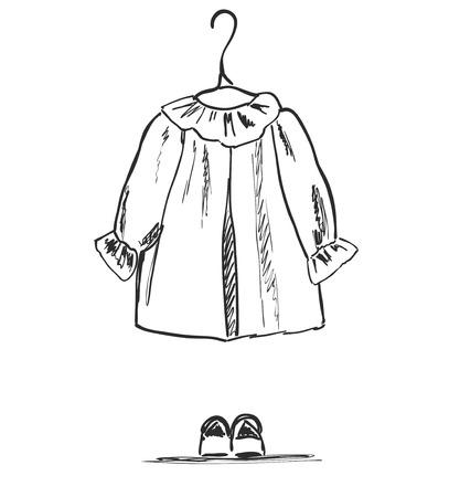 Baby clothes icon.