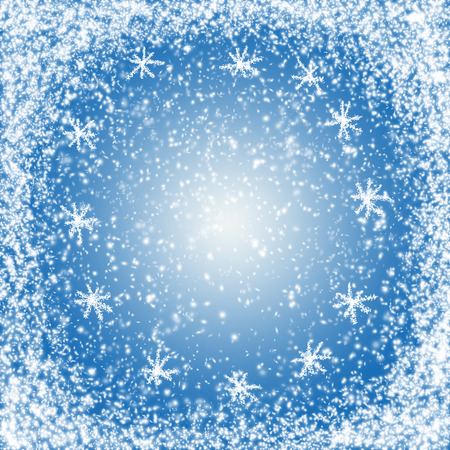 Fabulous Christmas and New Year snow background