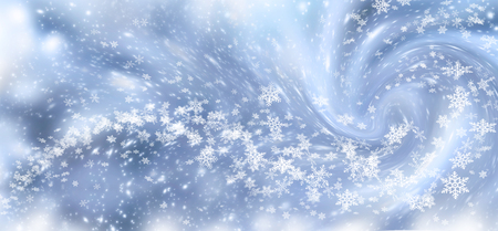 Christmas background with snowfall and snowflakes. New Year winter holiday blizzard.