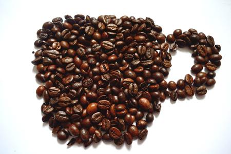frijoles: granos de caf� Foto de archivo