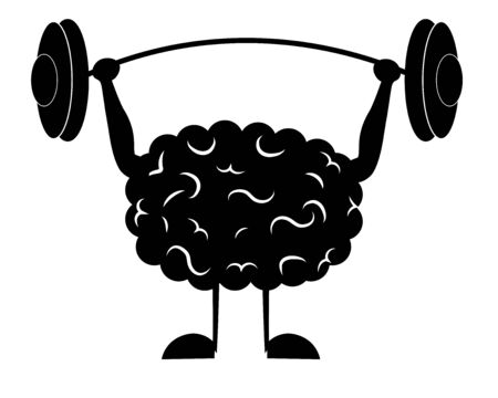 the brain raises the barbell Illusztráció