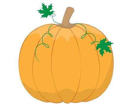 orange pumpkin for halloween holiday