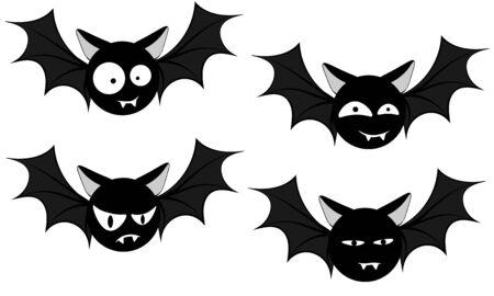 funny faces of black bats