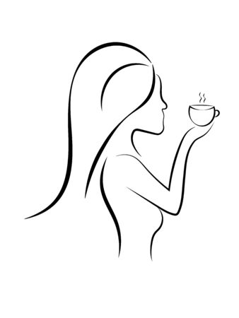 girl with a cup of hot drink