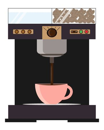 coffee machine with a cup