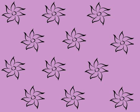 flowers on a purple background 向量圖像
