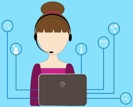 girl online network for a laptop
