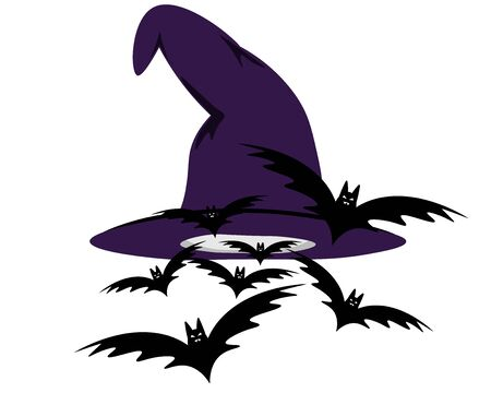 witch hat with flying bats