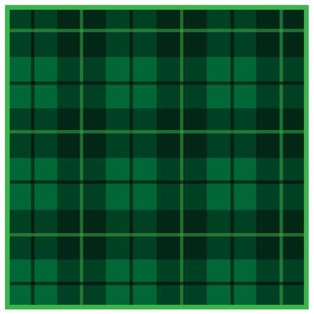 Scottish tartan green with black stripes 向量圖像