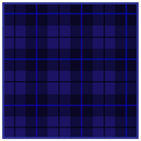 Scottish tartan blue with black stripes 向量圖像