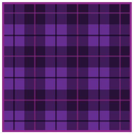 Scottish tartan purple with black stripes