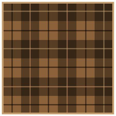 Scottish tartan brown with black stripes 向量圖像