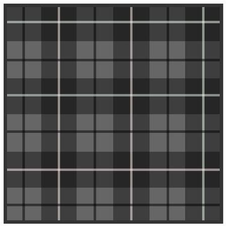 Scottish tartan gray with black stripes