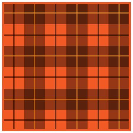 Scottish tartan orange with black stripes