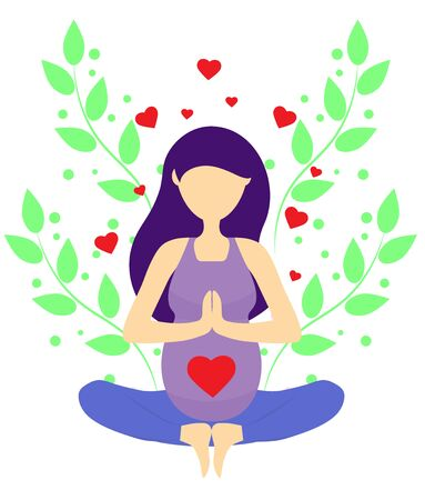 pregnant in yoga lotus position