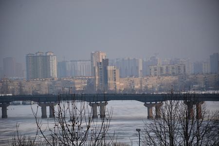 city bridge fog