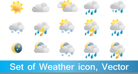 bad weather: Set of 15 high quality vector weather icons Illustration